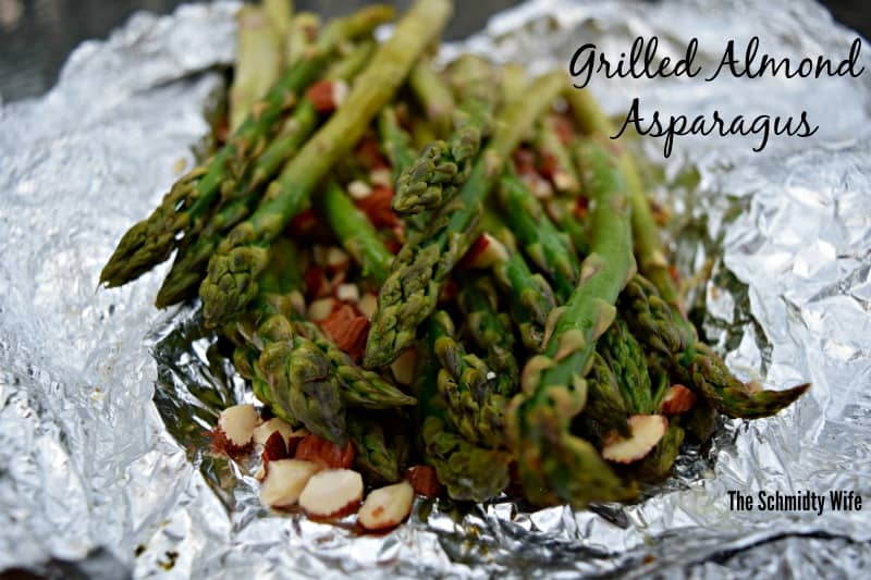 Grilled Almond Asparagus in foil