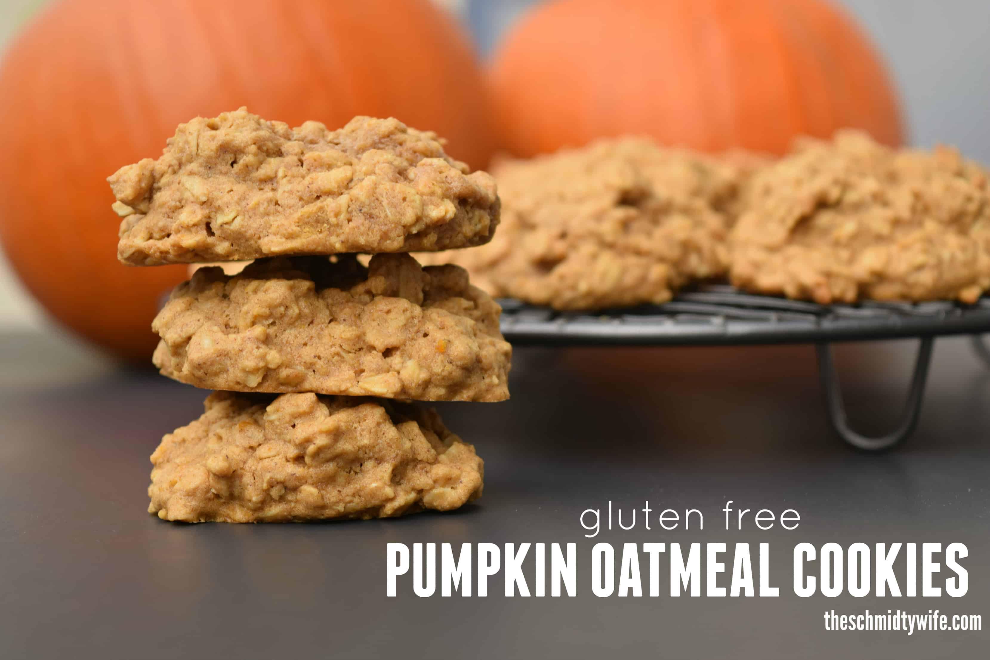 Gluten Free Pumpkin Oatmeal Cookies