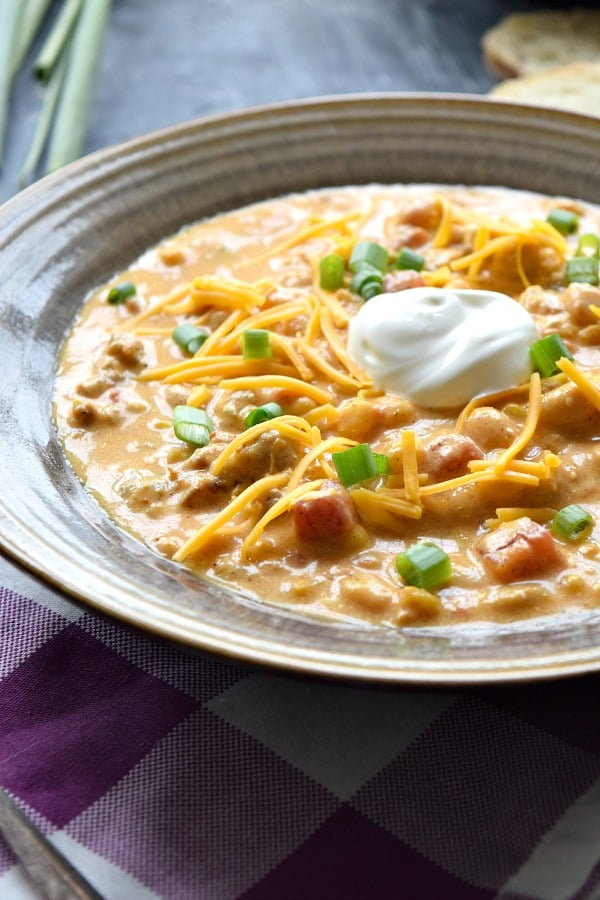 Creamy Pumpkin Chili for the slow cooker