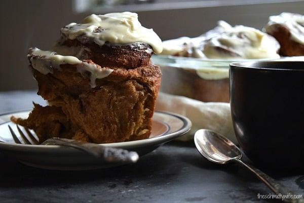 Overnight Gingerbread Cinnamon Rolls