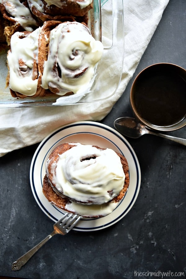 Overnight Gingerbread Cinnamon Rolls