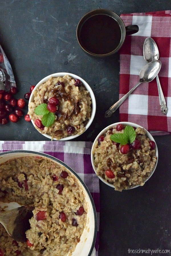 Cranberry Date Oatmeal