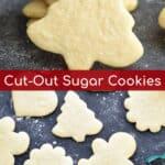 Christmas tree cutout sugar cookies