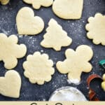 Cut Out Sugar Cookies on a table ready to be decorated