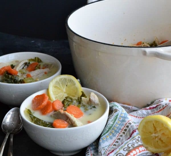 Lemon Chicken & Kale Soup