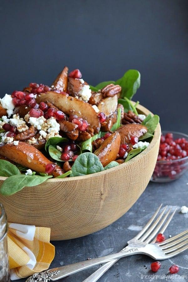 Roasted Pear & Pecan Salad