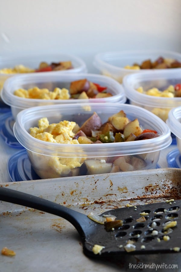 Roasted Potato Breakfast sitting in a container