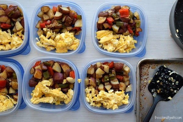 Meal Prep Roasted Potato Breakfast in containers