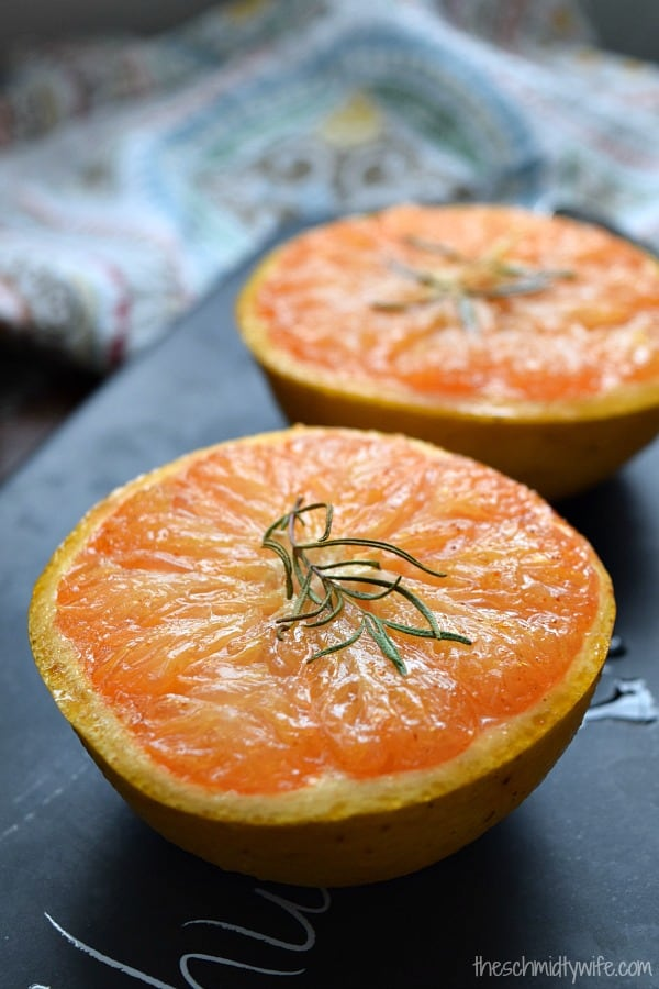 Honey Broiled Grapefruit