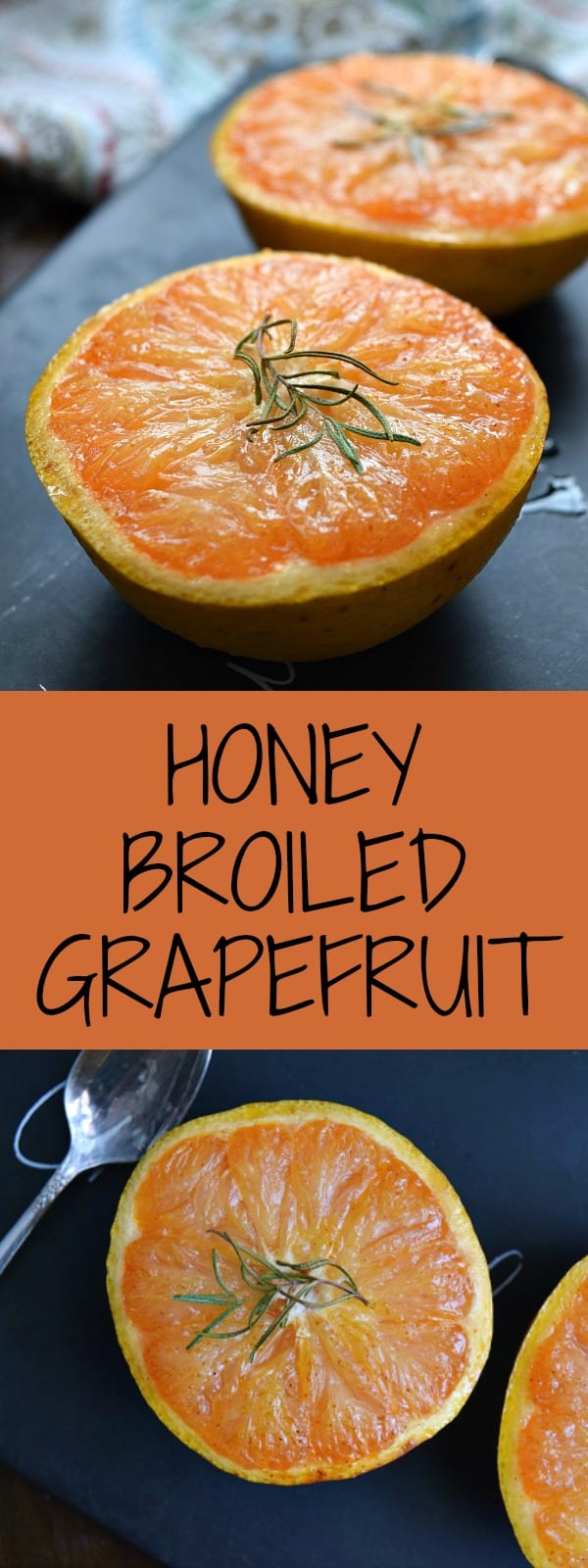 Honey Broiled Grapefruit is a delightfully extra juicy and flavorful snack or breakfast made by broiling it in the oven with honey & spices