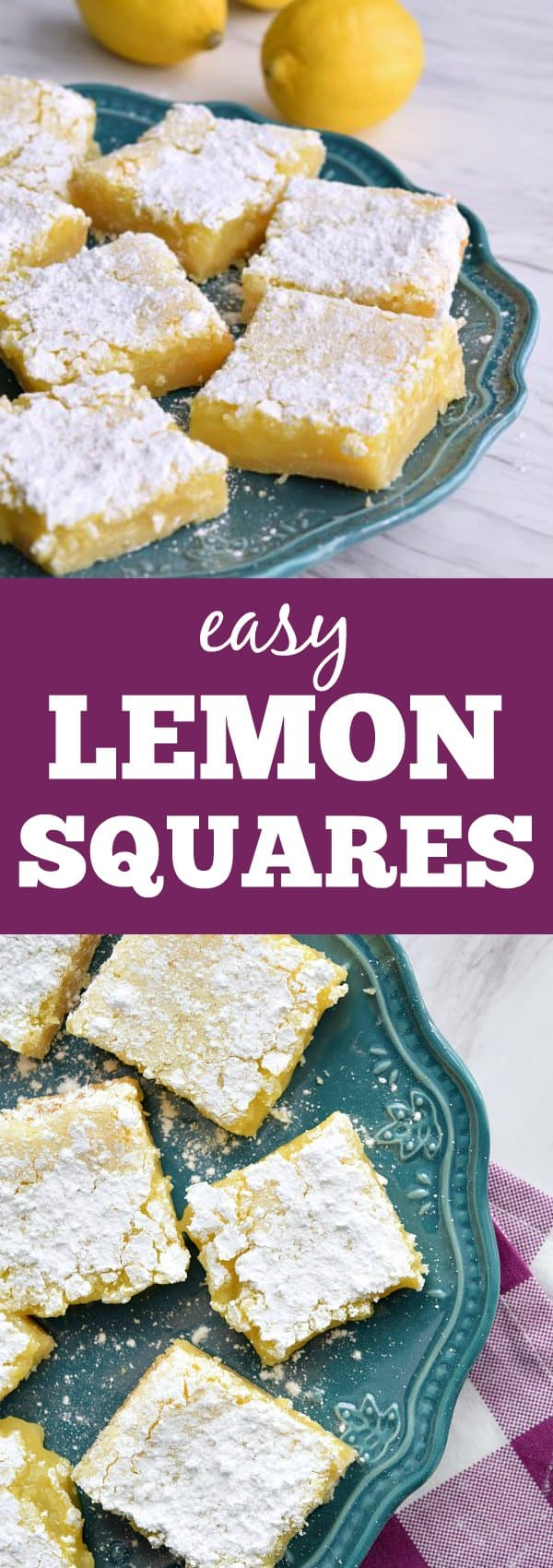 These homemade lemon squares are oozing with gooey lemon filling overtop a simple buttery crust. These are the lemon bars people will be asking you to make again and again.