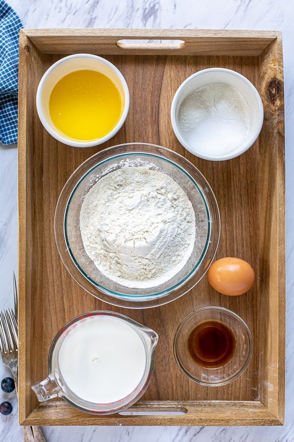 ingredients needed to make pancakes from scratch