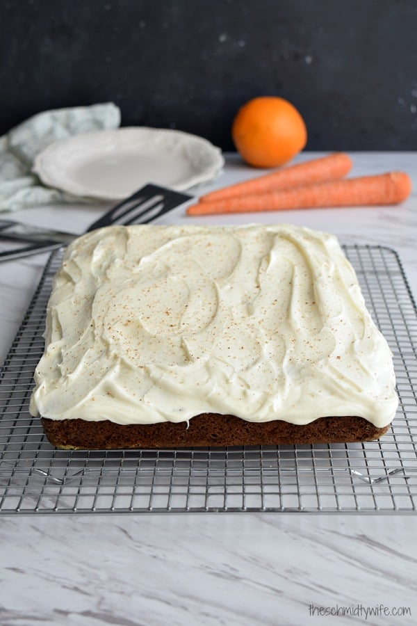 Orange Spiced Carrot Cake