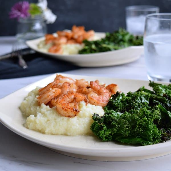 Simple Shrimp & Mashed Cauliflower