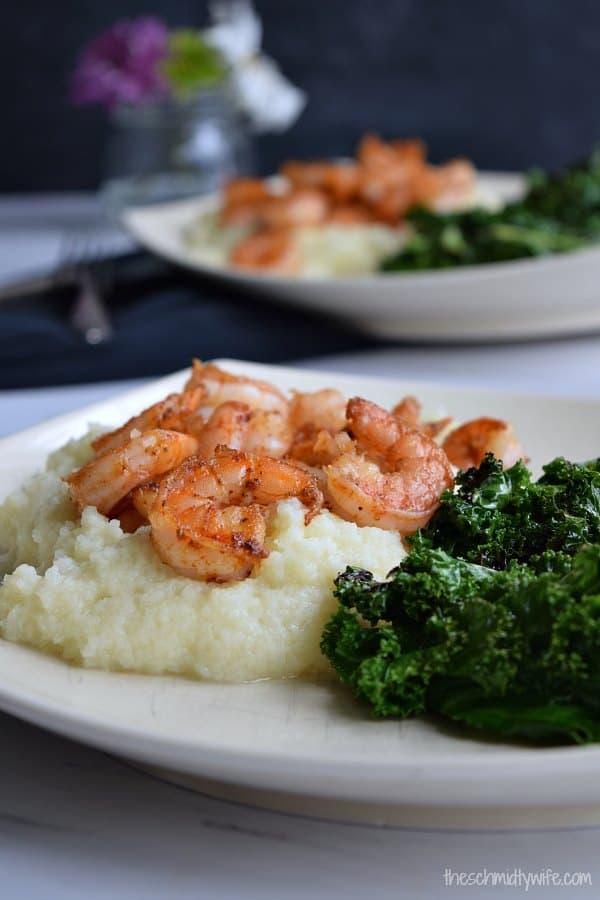 Simple Shrimp & Cauliflower Mash