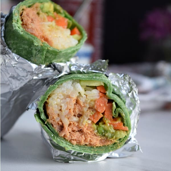 the inside of a Spicy Tuna 'Sushi' Wrap