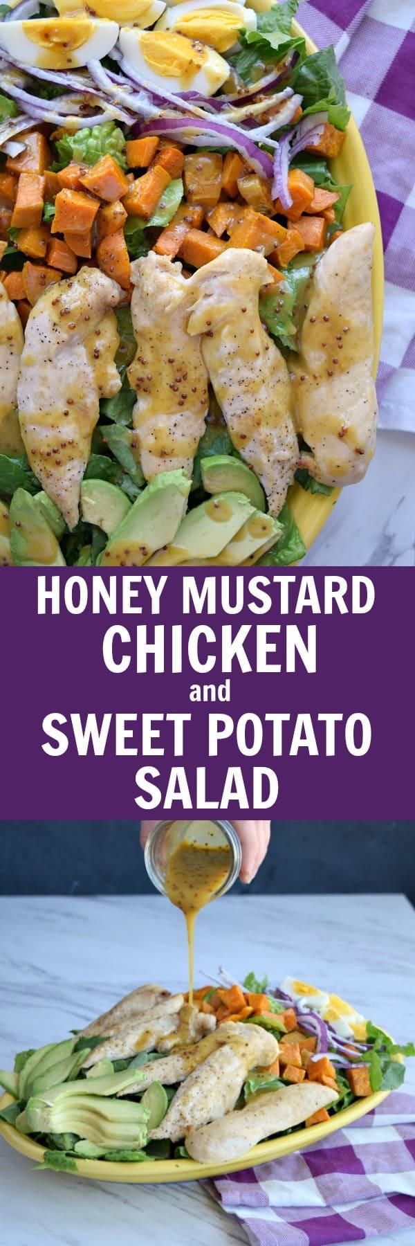 Honey Mustard Chicken and Sweet Potato Salad