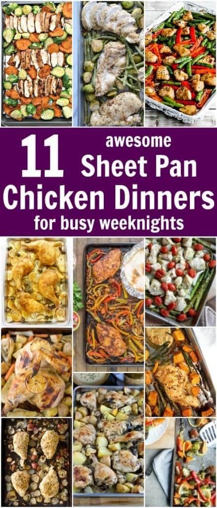 Sheet Pan Chicken Dinners Roundup