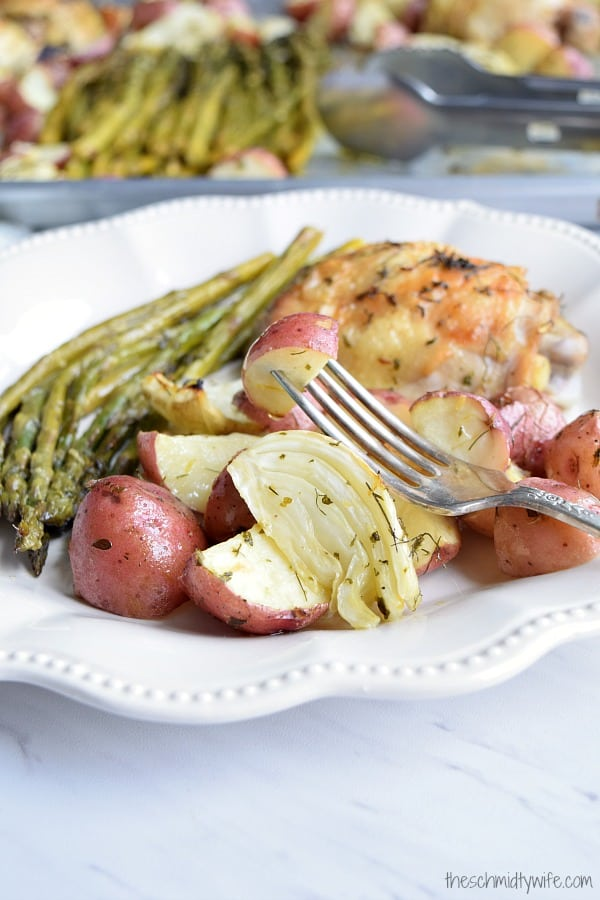 Sheet Pan Chicken with Spring Vegetables