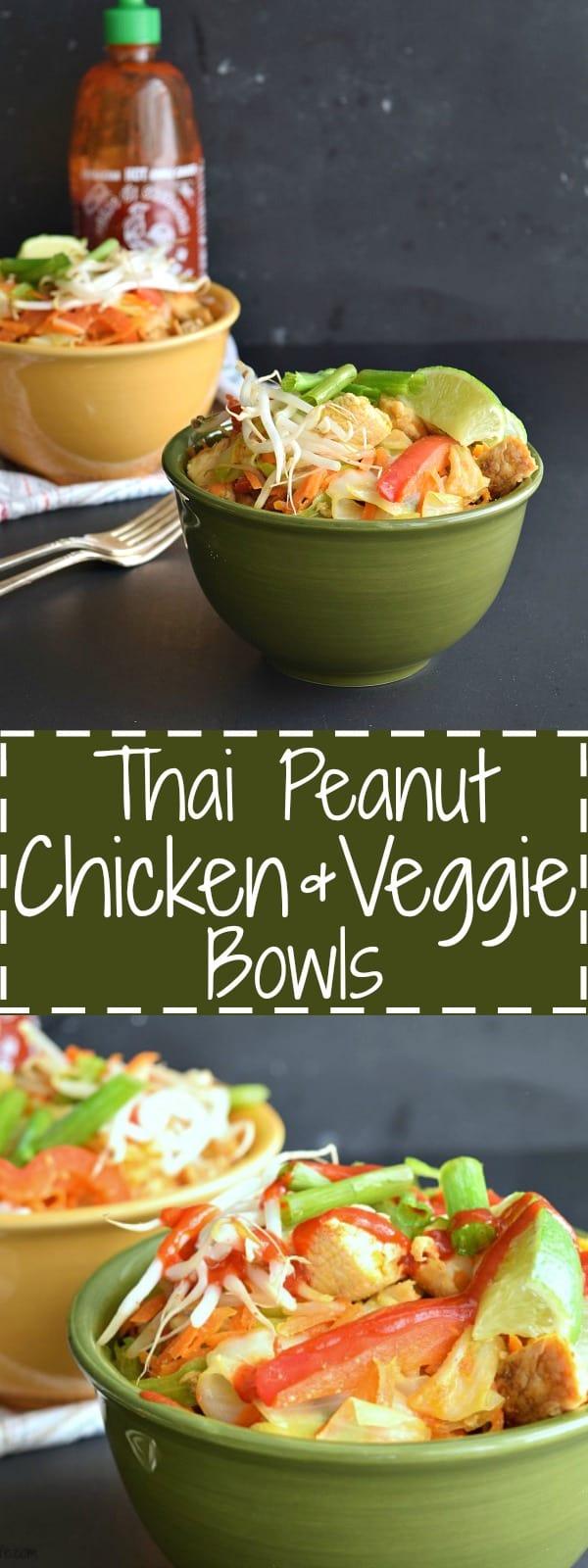 Thai Peanut Chicken & Veggie Bowls