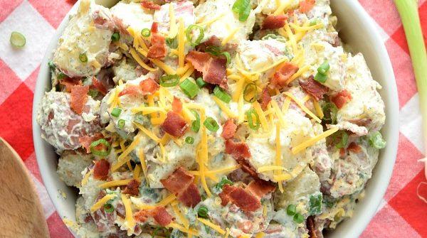 overhead Bacon Ranch Potato Salad