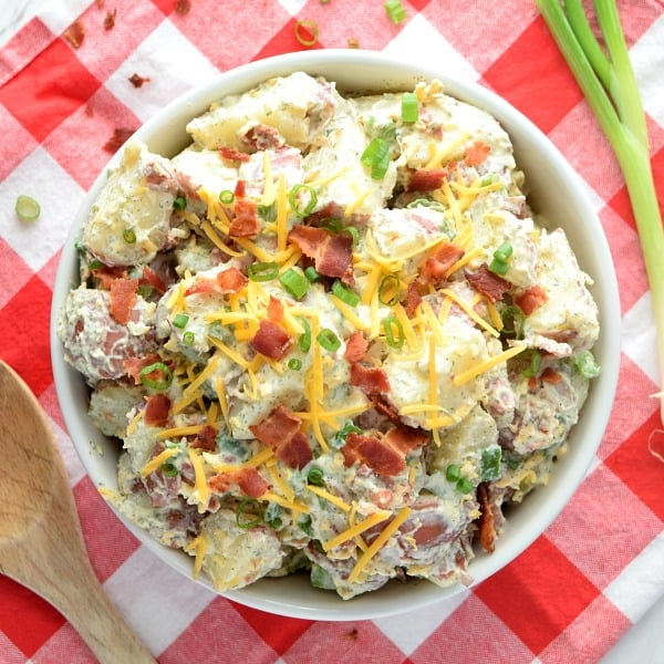 overhead Bacon Ranch Potato Salad
