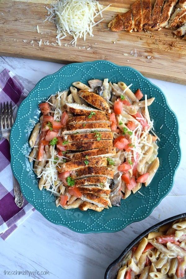 Healthier Cajun Chicken Pasta