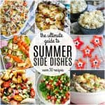 Summer Side Dishes collage showing numerous different side dishes.