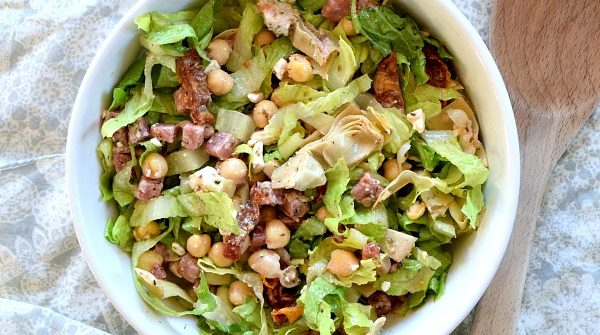 bowl with Marinated Chickpea Chopped Salad