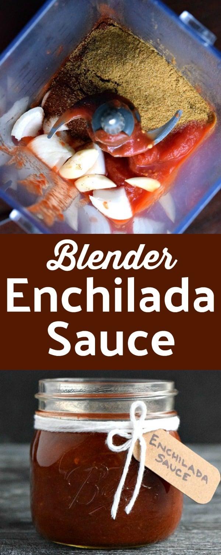 Blender Enchilada Sauce Pinterest Pin #enchiladasauce #enchiladas