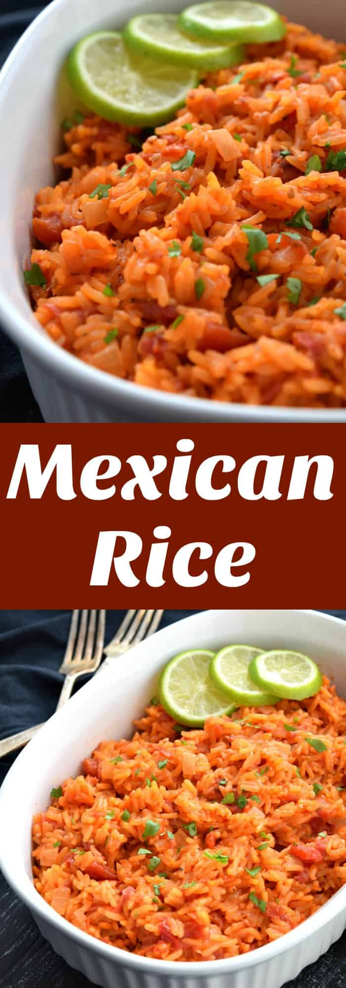 Mexican Rice Pinterest Pin #sidedish #mexicanrice #mexican #rice