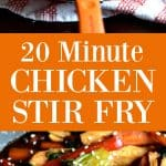 20 Minute Chicken Stir Fry - An easy healthy meal made in just 20 minutes