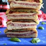 Italian Pressed Picnic Sandwich - delicious pressed sandwiches perfect for a sunny day outing