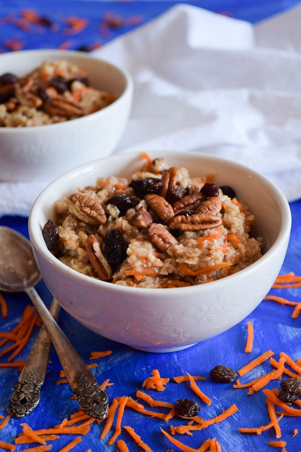 Clean Eating Carrot Cake Oatmeal #breakfast