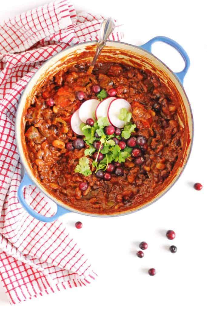 Cranberry Chili with Cinnamon and Cocoa