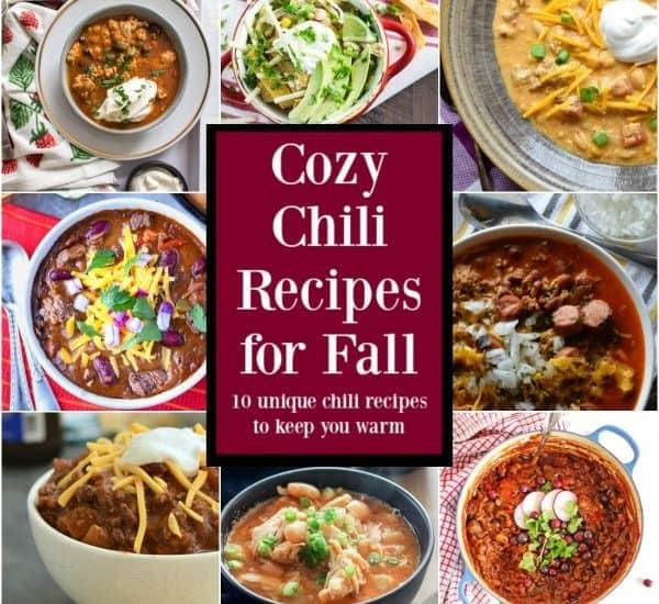 cozy chili recipes for fall
