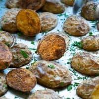 Crispy Oven Roasted Baby Yukon Potatoes