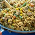 Quick and Easy Pork Fried Rice - Is a no prep meal ready to eat in 30 minutes