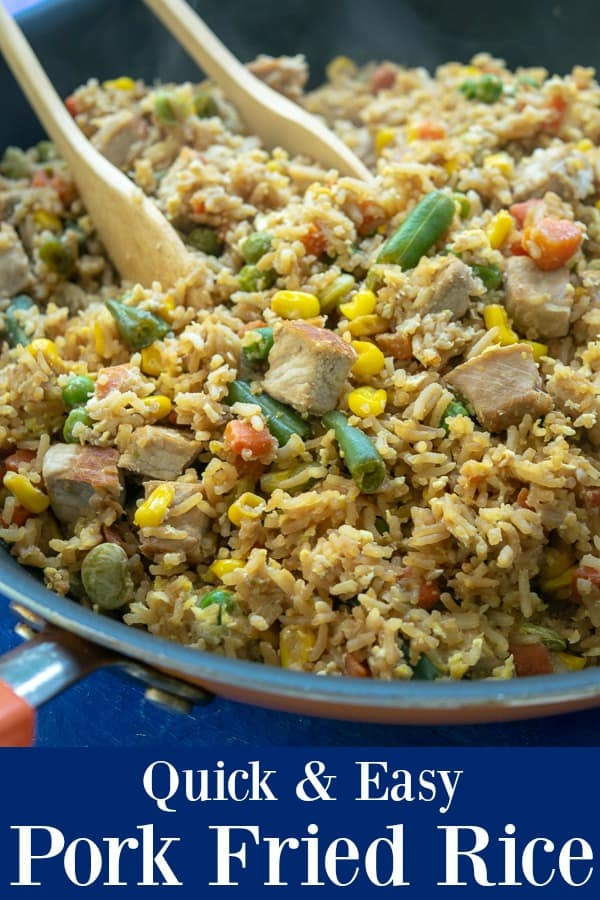 Quick & Easy Pork Fried Rice - Is a no prep meal ready to eat in 30 minutes
