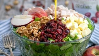 Apple Cranberry Salad with Turkey and Apple Cider Vinaigrette