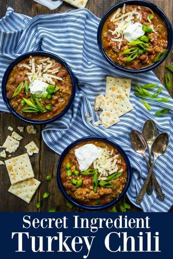 Secret Ingredient Turkey Chili Pinterest Pin