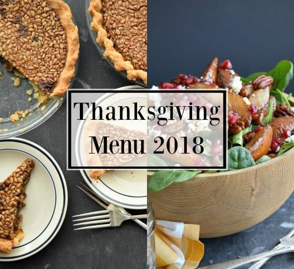 Thanksgiving Menu 2018