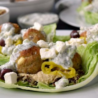 Greek Turkey Meatball Lettuce Wraps Recipe