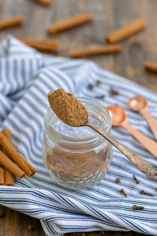 a spoonful of homemade gingerbread spice mix