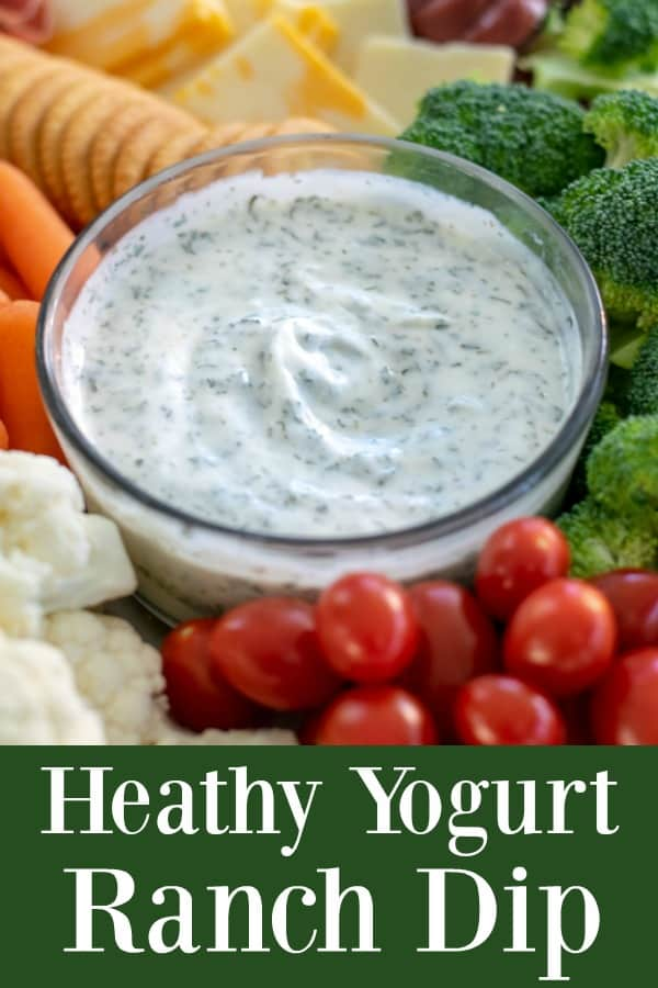 Healthy Yogurt Ranch Dip - a great alternative to fatty ranch dressing