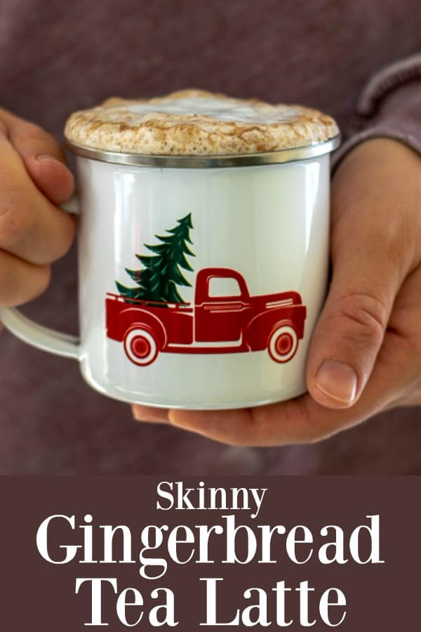 Skinny Gingerbread Tea Latte - low in calories high in flavor