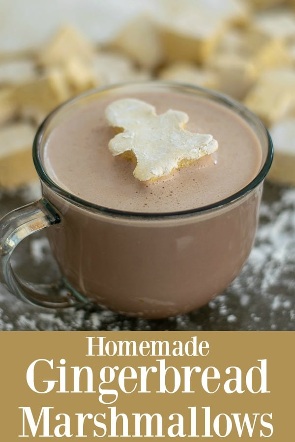 Homemade Gingerbread Marshmallows - perfect for a cup of hot chocolate