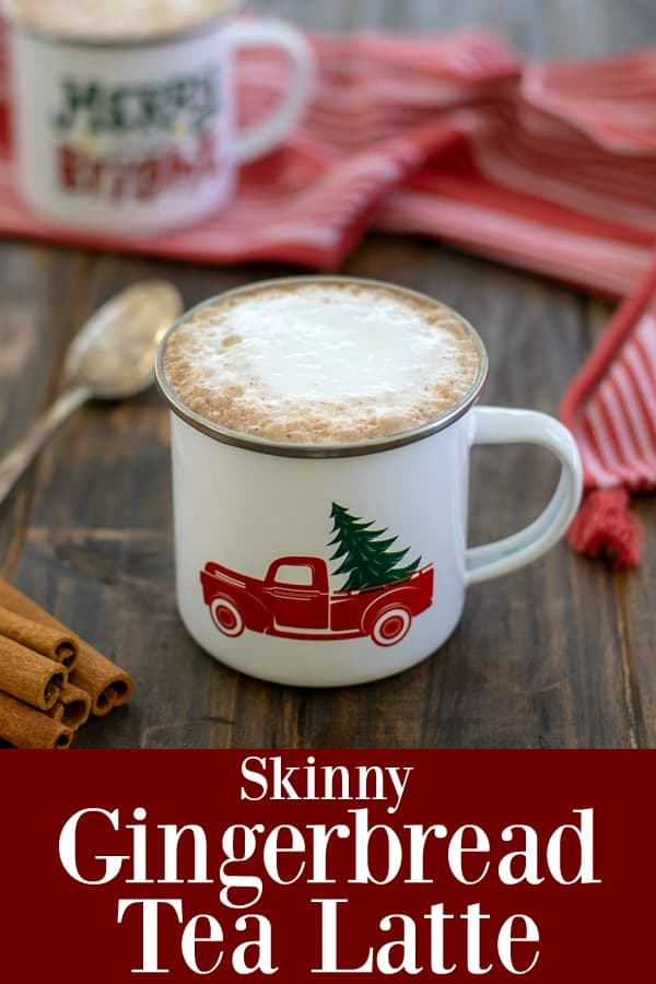 A Skinny Gingerbread Tea Latte - low in calories high in flavor