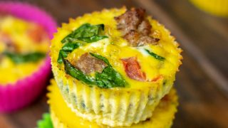 Double Batch Meal Prep Spinach Sausage Egg Muffins