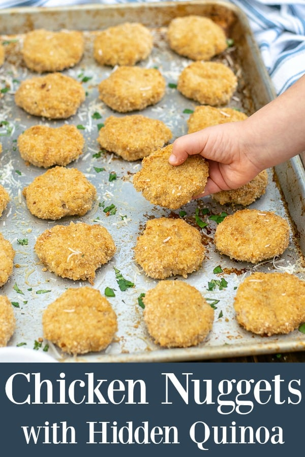 Healthy Baked Chicken Nuggets with Sneaky Quinoa